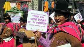 Mujeres bolivianas se manifiestan por el 8 de marzo