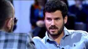 Willy Bárcenas durante la entrevista