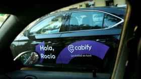 Imagen de un coche de Cabify en Barcelona.