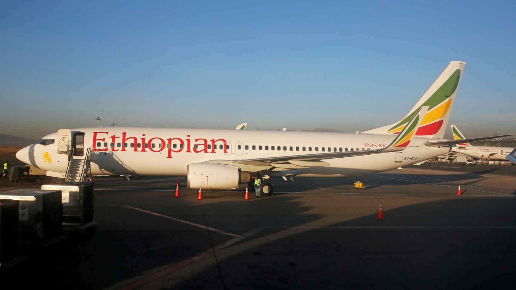 Un Boieng 737 de Ethiopian Airlines.