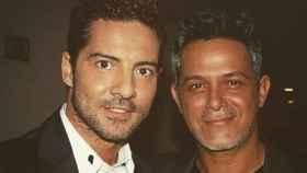 David Bisbal y Alejandro Sanz en una imagen de sus redes sociales.