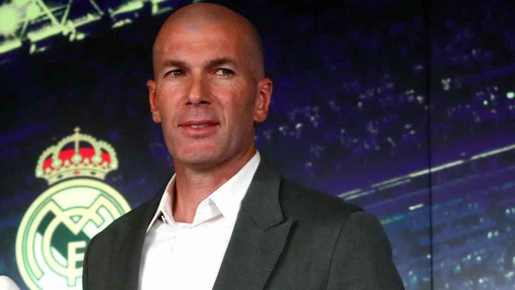 Zinedine Zidane, en su presentación como nuevo entrenador del Real Madrid
