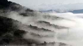 Los cielos estarán este domingo nubosos o cubiertos en Navarra. Jesús Diges / EFE.