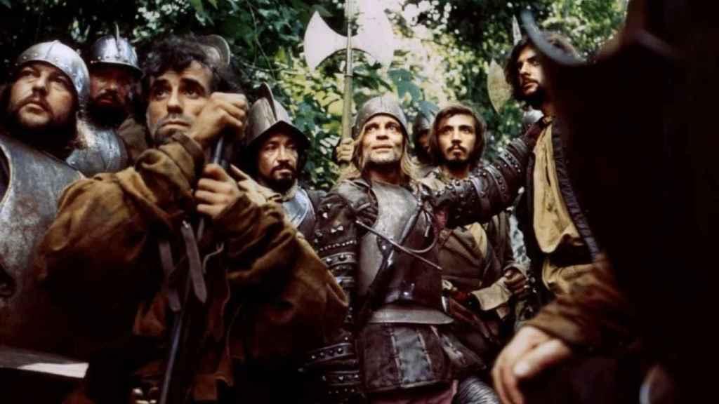 Fotograma de la película 'Aguirre, la cólera de Dios' (1972), que narra la vida del conquistador vasco.