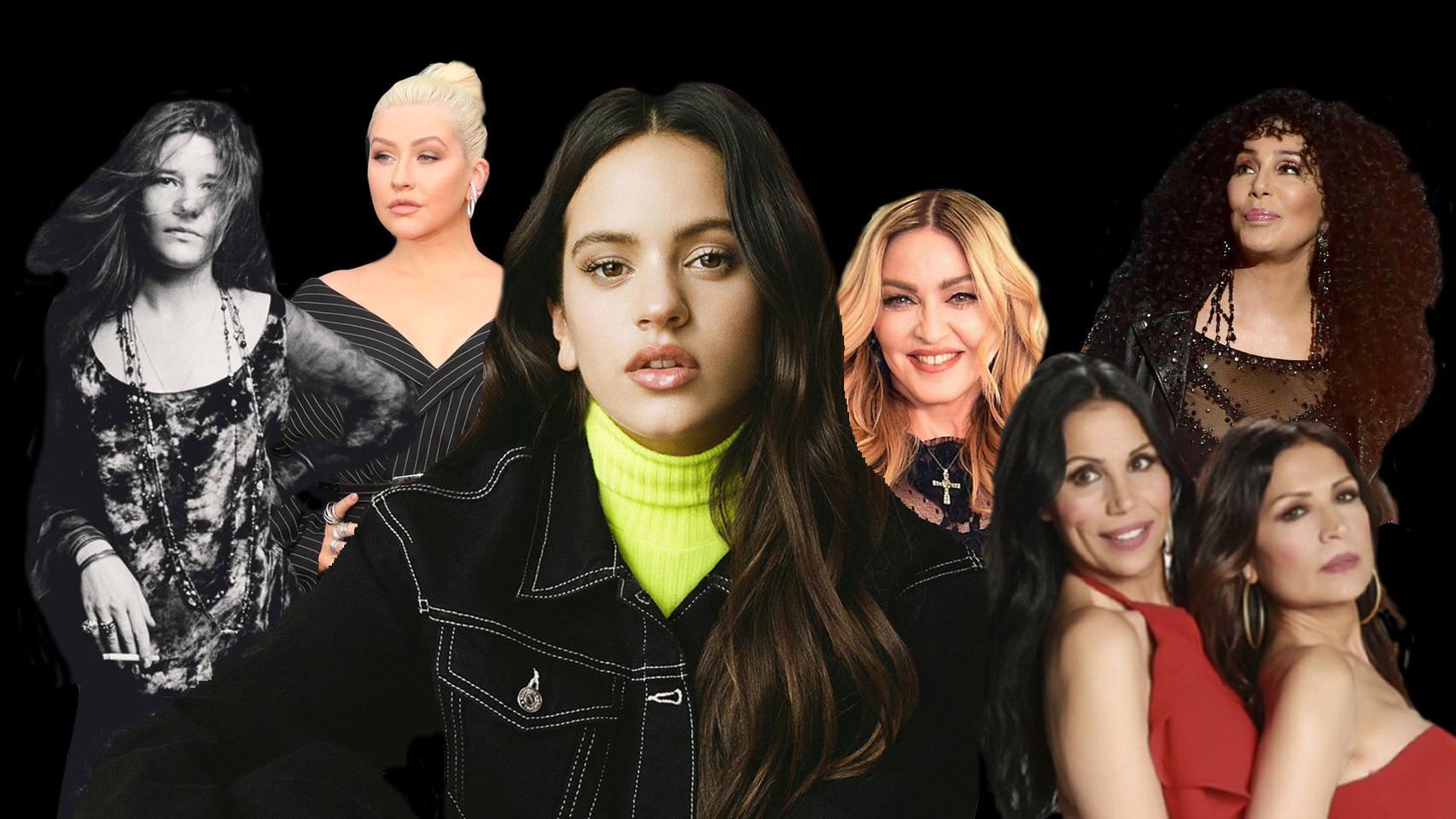 Rosalía y algunos de sus referentes femeninos.