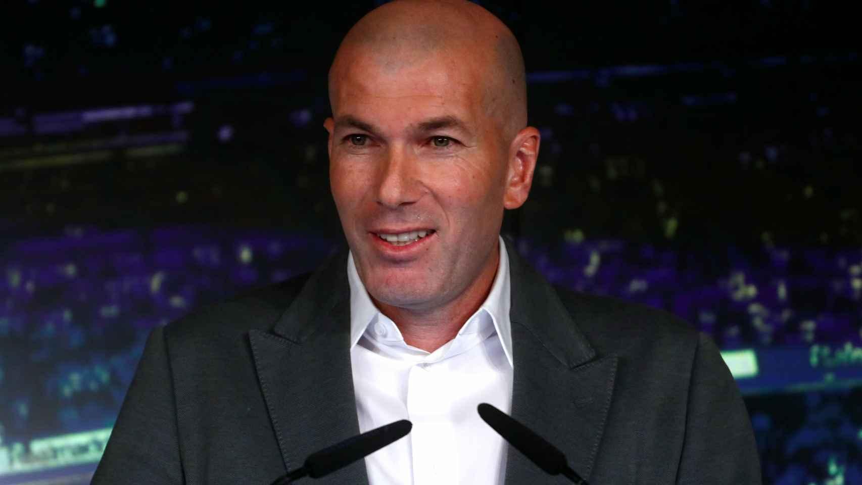 El look de Zidane en rueda de prensa