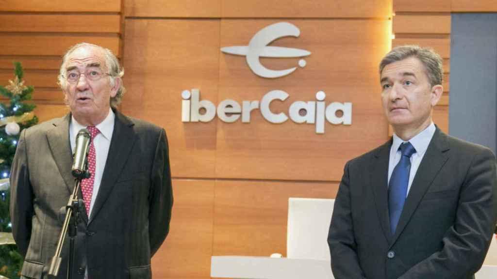 Amado Franco, presidente de la Fundación Ibercaja, y Victor Iglesias, CEO de la entidad.