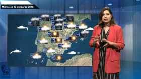 Imagen de la predicción del tiempo de El español.