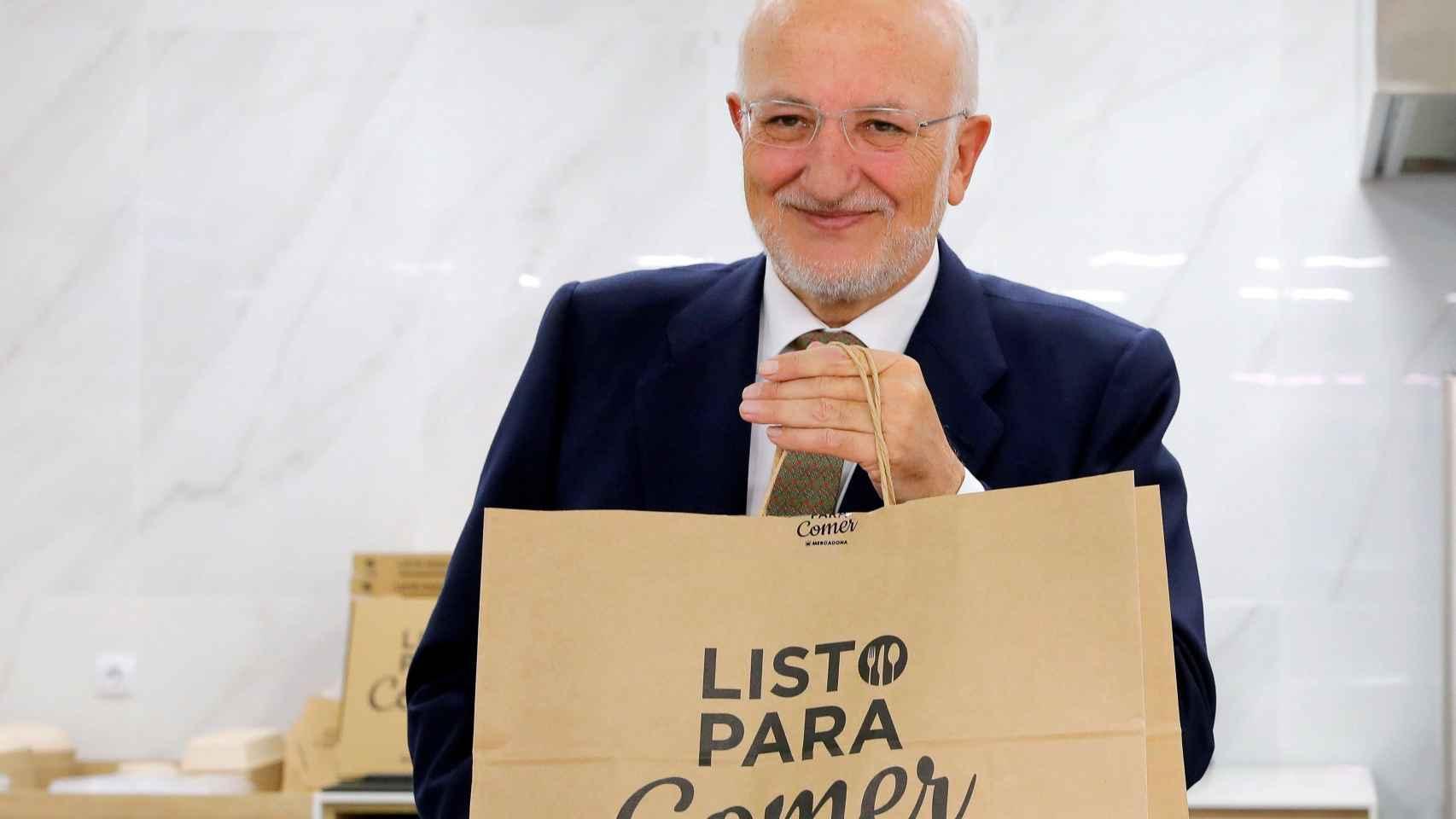 Juan Roig, presidente de Mercadona, durante la presentación de los resultados anuales.