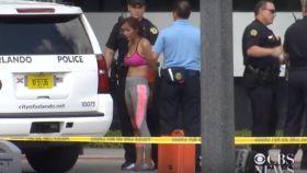 La mujer, detenida por la Policía en Orlando.