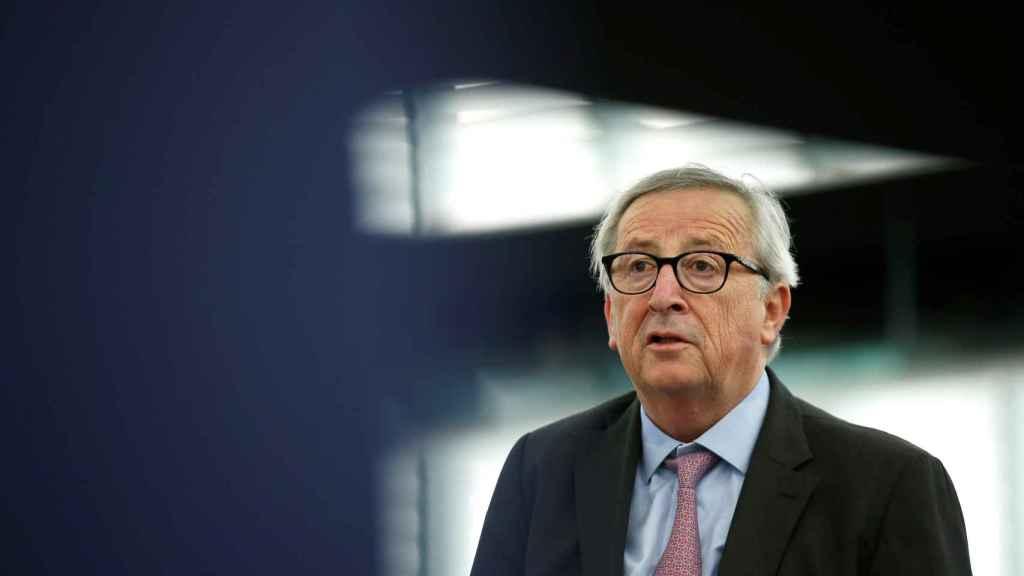 El presidente Jean-Claude Juncker, durante un discurso en Estrasburgo