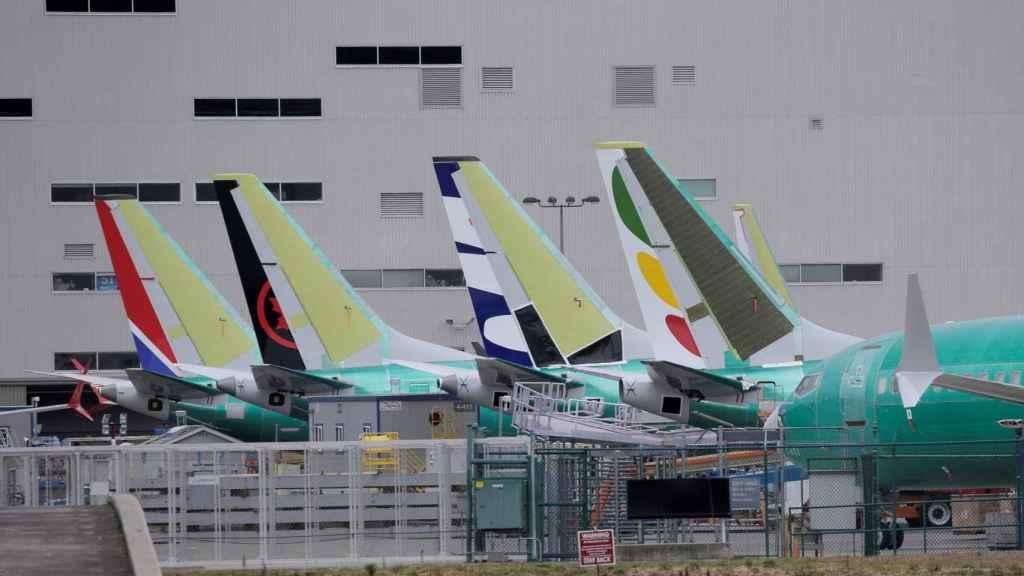 Aviones Boeing 737 MAX en la fábrica de Renton, Estados Unidos.