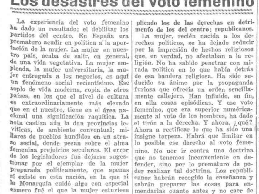 Editorial del 'Heraldo de Madrid'