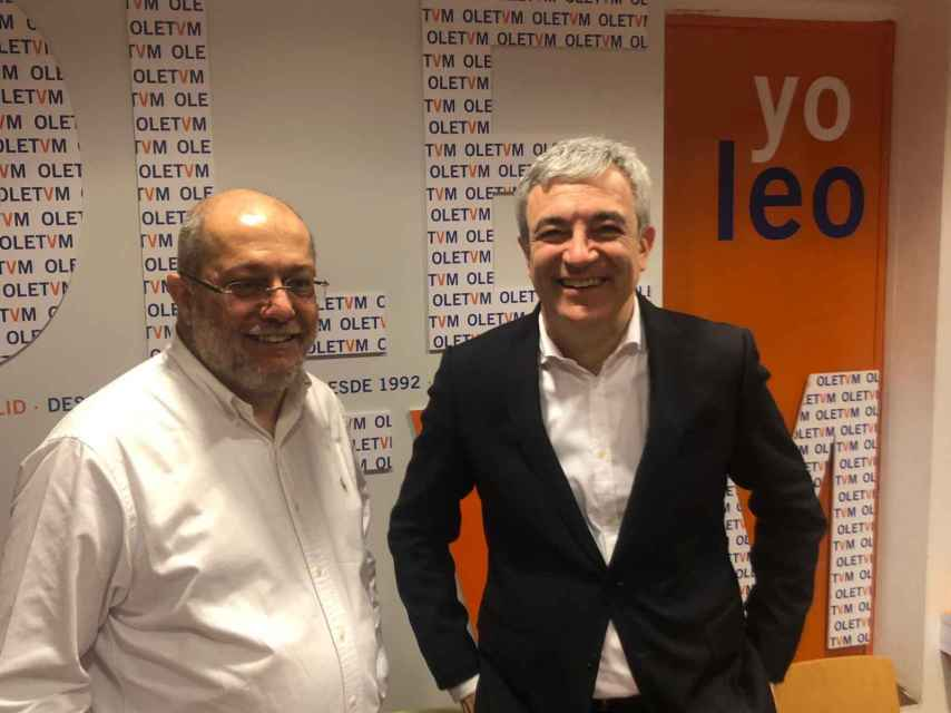 Luis Garicano fue el apoyo más reseñable de Igea en campaña.