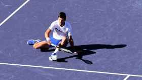 Djokovic, durante su derrota en India Wells.