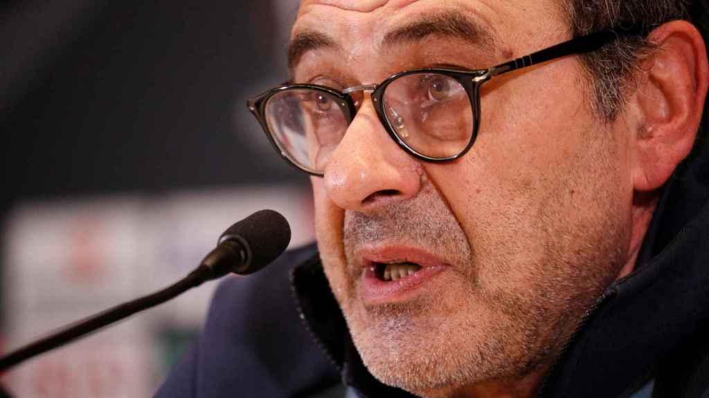 Sarri, entrenador del Chelsea en rueda de prensa