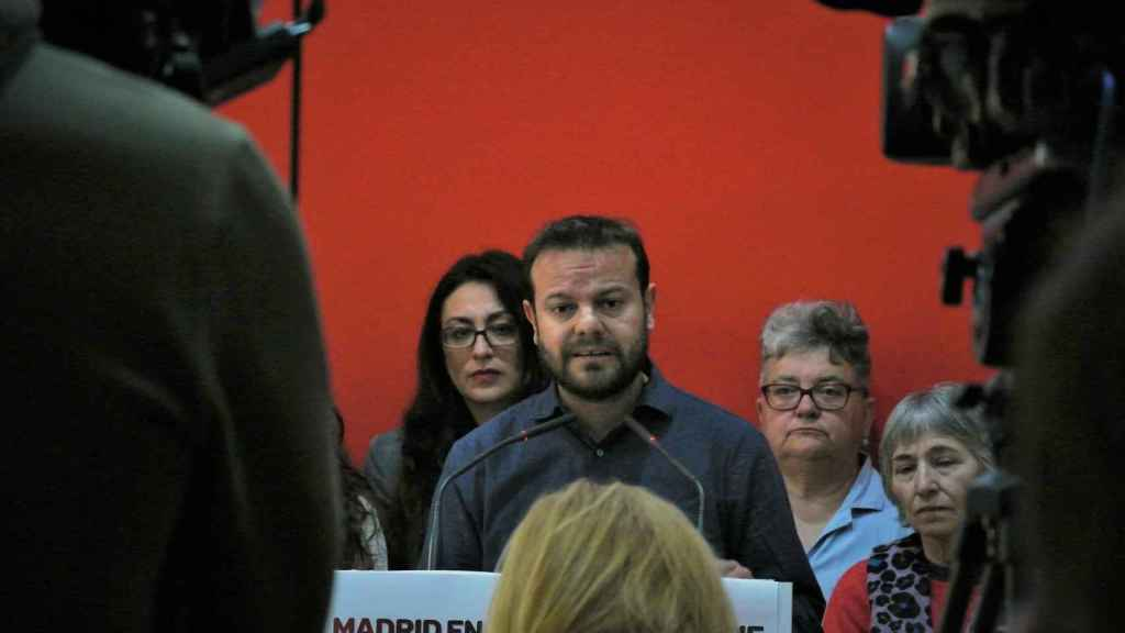 Raúl Camargo, líder de Anticapitalistas Madrid, partido escindido de Podemos.