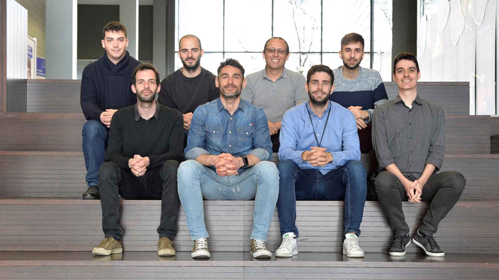 El joven equipo de la startup española Quside liderado por Carlos Abellán.