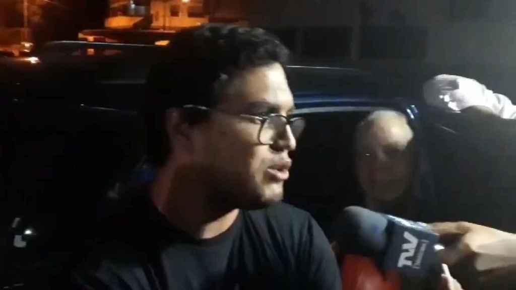 Luis Carlos Díaz, tras ser liberado.