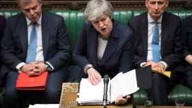 May, este miércoles durante su intervención en el Parlamento británico