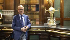 Josep Antoni Duran i Lleida, esta semana en el bar inglés del hotel Palace de Madrid.