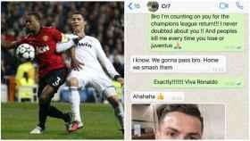 Evra enseña sus 'whatsapps' con Cristiano antes de la remontada: En casa los aplastamos