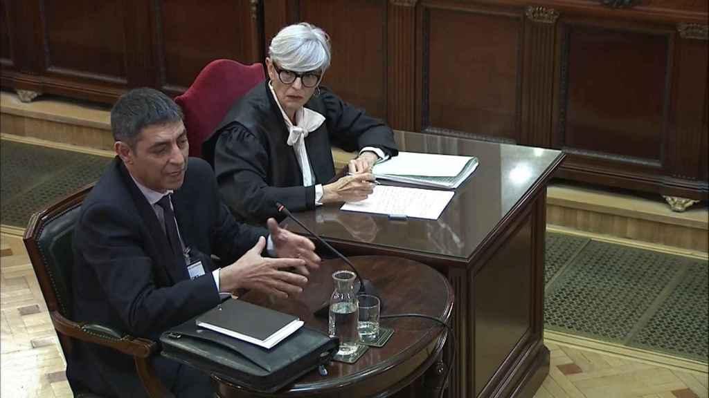 Josep Lluís Trapero en el juicio al 'procés'.