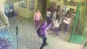 Fotograma del vídeo de la matanza en Brasil.