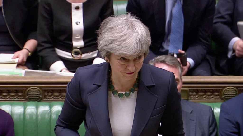 May, en el Parlamento británico