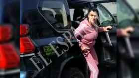 Patricia Parodi, el pasado martes 5 de marzo, a su llegada a dependencias policiales en La Línea de la Concepción (Cádiz).