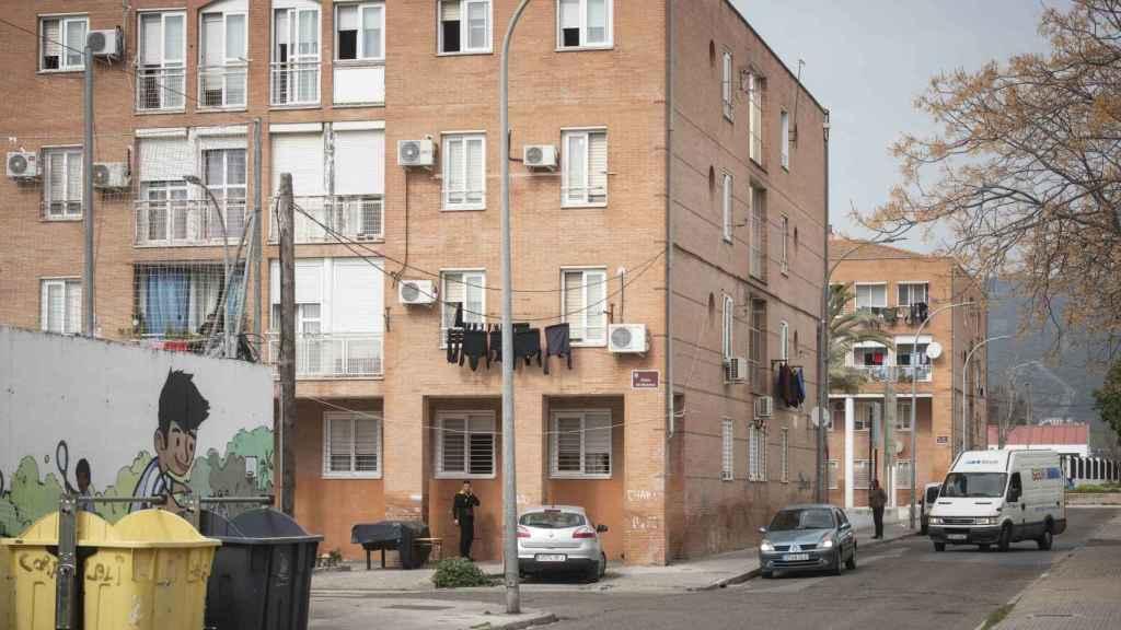 Las Palmeras se creó en 1963. En la actualidad residen entre 2.500 y 3.000 personas. Según la asociación de vecinos, la renta per cápita real es de 1.743 euros al año.