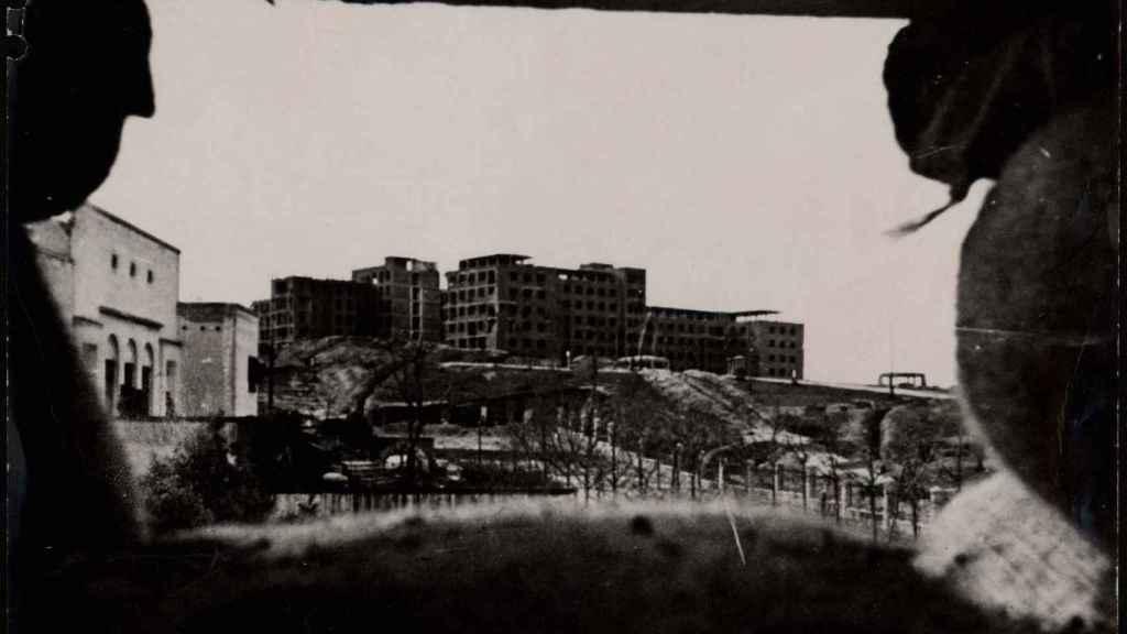 El Hospital Clínico de Moncloa, convertido en ruinas por las bombas.