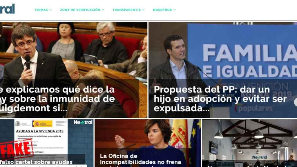 El portal de Newtral compartiendo la noticia.