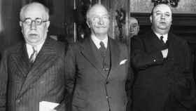 Manuel Azaña, Alejandro Lerroux e Indalecio Prieto.