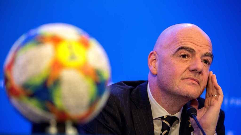 Gianni Infantino, presidente de la FIFA, en rueda de prensa tras el Congreso