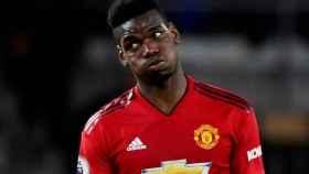 Pogba, en un partido del Manchester United