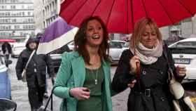 Imane Fadil durante su llegada al tribunal en Milán, para testificar en el 'caso Ruby' en 2012.