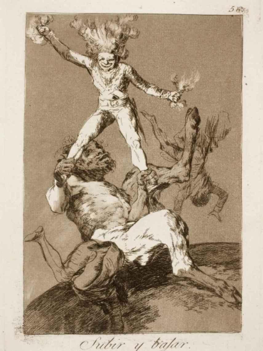 Subir y Bajar, obra de Goya.
