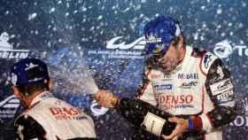 Fernando Alonso tras ganar en Sebring