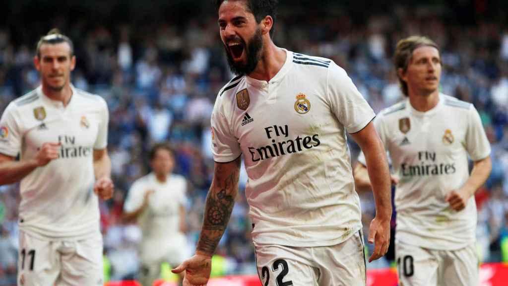 Isco celebra su gol al Celta de Vigo