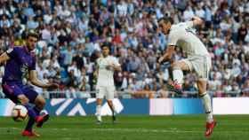 Gareth Bale dispara a portería y anota el segundo gol del Real Madrid al Celta
