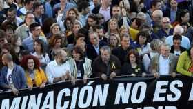 Quim Torra y Artur Mas a la cabeza de la manifestación separatista convocada en Madrid.