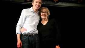 Íñigo Errejón y Manuela Carmena, en el acto de promoción de las primarias de Más Madrid.