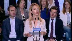 Cayetana Álvarez de Toledo, en su presentación como cabeza de lista del PP por Barcelona.