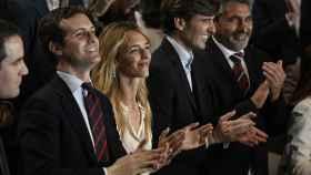 Casado, Álvarez de Toledo, Montesinos y Cortés, en la presentación de candidatos del PP, en Madrid.