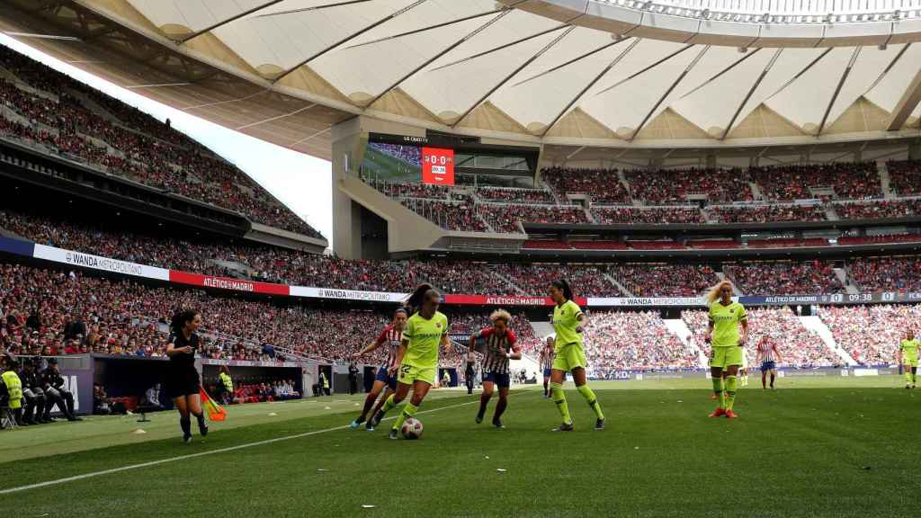 Atlético de Madrid femenino - Barcelona femenino en el Wanda Metropolitano