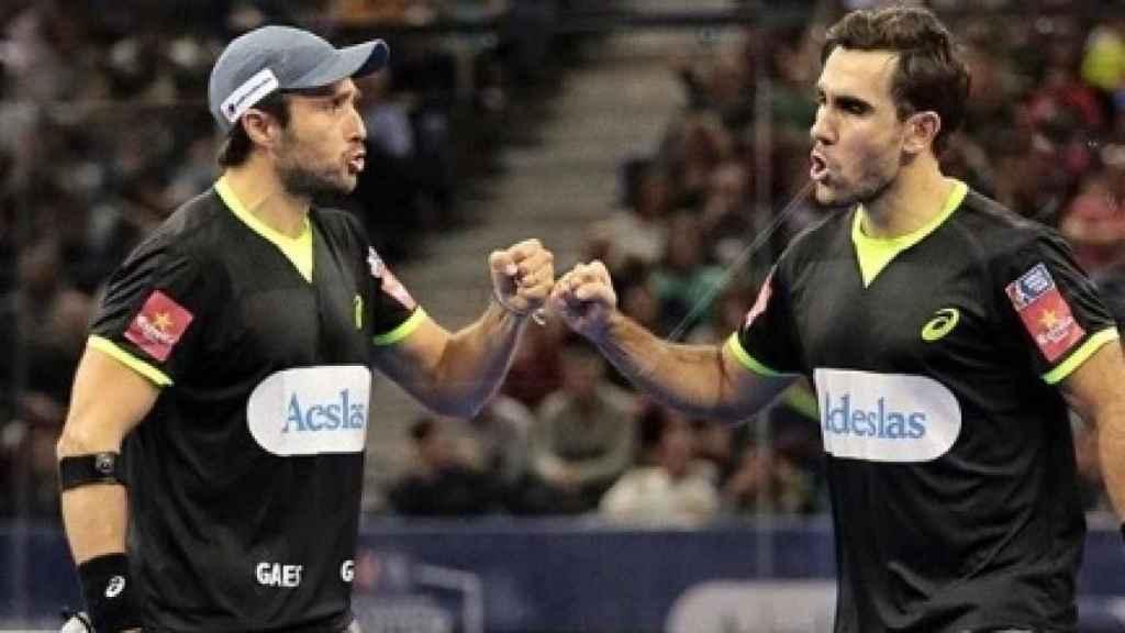 Bela y Lima durante el pasado Master Final en Madrid. Foto: Instagram (fernando_belasteguin)