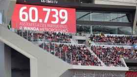 Récord de asistencia en la historia del fútbol femenino a nivel de clubes en el Atlético - Barceona