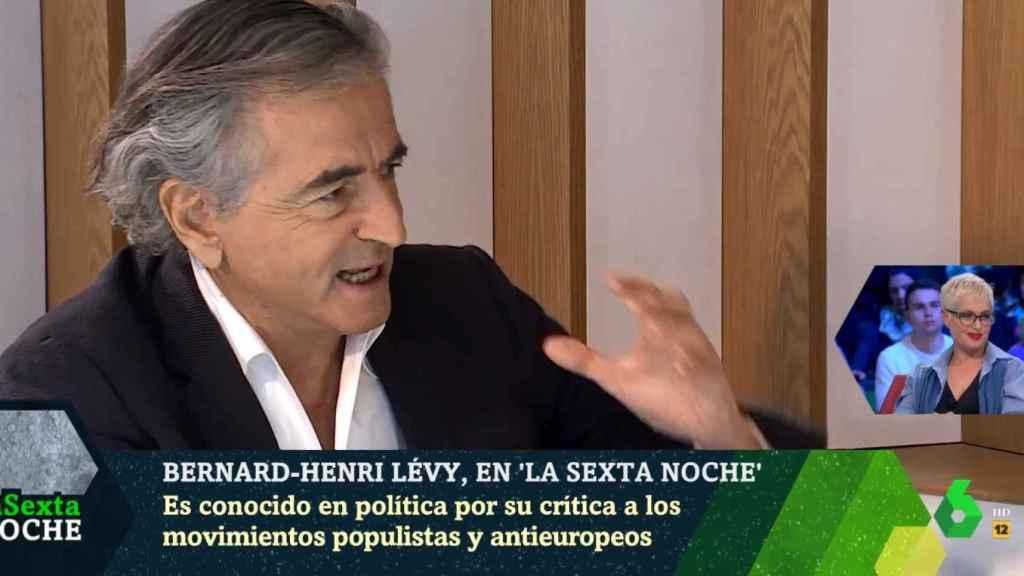 Bernard-Henri Lévy, durante su participación en el programa 'La Sexta Noche'.
