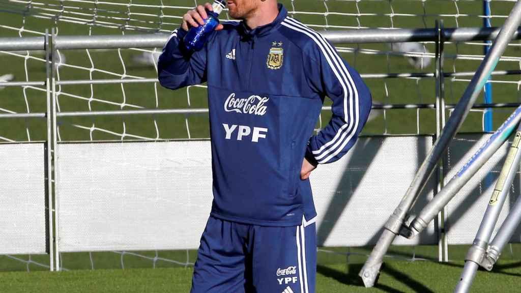 Leo Messi en su vuelta a la selección